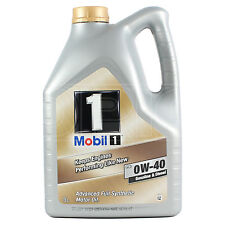 Mobil 1 0W-40 Fully Synthetic Engine Oil 0W40 Mobil1 5 Litres 5L