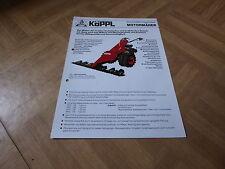 Werbeblatt Köppl Motormäher der Serie 500 KWA-Doppelmesser