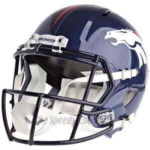DENVER BRONCOS Riddell Speed NFL Full Size Replica Football Helmet