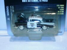 RACING CHAMPIONS POLICE 1957 CHEVY BEL AIR WHITE SETTLEMENT TX POLICE #56