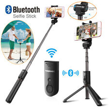 360°Rotation Extendable Bluetooth Selfie Stick Tripod Stand Remote Fr Cell Phone