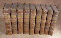 NOUVEAU DICTIONNAIRE HISTORIQUE ABREGE 9 vol (COMPLET)  1789 LEROY & BRUYSET