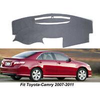 For Toyota Camry 2007-2011 Dashmat Dash Cover Non-Slip Dashboard Gray Pad Cover
