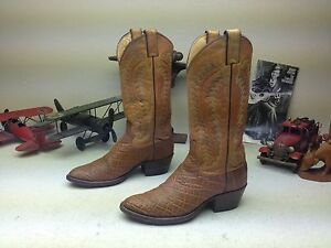 JUSTIN 9099 VINTAGE BROWN LEATHER WESTERN COWBOY ENGINEER TRAIL BOSS BOOTS 6.5 D