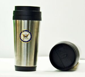 Navy Stainless Steel 16 oz. Insulated Coffee Travel Cup Tumbler w/ No Spill Lid