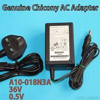 Original  Chicony  A10-018N3A  36V , 18W  REV:01  AC Adapter  w/ UK Power Lead