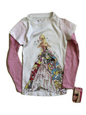 NWT Girls Pink Long Sleeve Top Barbie XS 4 5