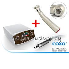 COXO Dental LED Electric Motor C-PUMA+1:5 LED Fiber Optic Contra Angle Handpiece