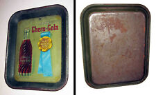 """Unusual CHERO-COLA Soda Litho'd Tin Advertising TRAY  """"There's None So Good"""""""