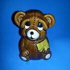 1982 Houston Foods Brown Teddy Bear Honey Pot Sugar Jam Holder
