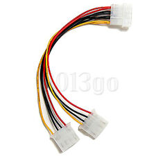 4 Pin Molex Y Splitter to 2 Molex 4 Pin Power Supply Cable For Computer YG