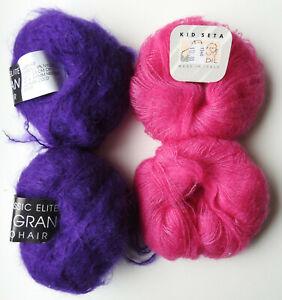 KidSilk Soft Fluffy Yarn Deep Red Violet Handpainted Kidmohair Silk Yarn Luxury Hand Dyed Kid Mohair Lace EU SELLER Hand Dyed Yarn