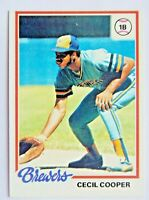 Cecil Cooper #154 Topps 1978 Baseball Card (Milwaukee Brewers) VG