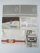 Vintage 1980's Original Renault 5 owner's manuals lot in French and English