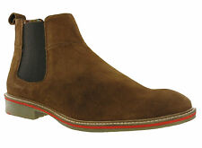 Roamers Suede Chelsea BOOTS - Sand UK 11