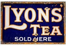 Lyons Tea Vintage Retro Metal Wall Plaque Art Antique Advertisement Sign