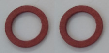2 x Vespa PE PX T5 2 Fibre Washers for use with Oil Filler and Drain Plug Bolts