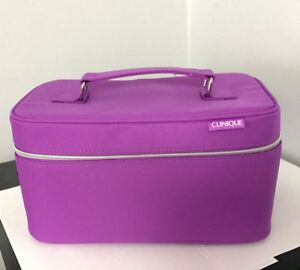 New Clinique Makeup Train Case Purple Size  6 x 10 x 5''