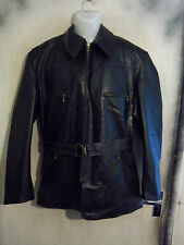 VINTAGE WW2 GERMAN LUFTWAFFE FAUX LEATHER MOTORCYCLE JACKET SIZE XL RIES ZIPS