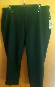 Michael Kors Plus Size 3X Cotton Blend Straight Leg Stretch Pull On Pants New