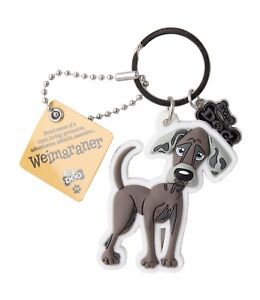 Weimaraner 3D Key Ring Bag Charm Tag Dog Lovers Gift Stocking Filler