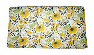 Indian Cotton Kantha Quilt Hand Block Printed Coverlet Blanket Flower Bedspread
