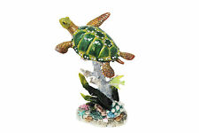 "6.5"" Turtle Trinket Box Pewter and Enamel Animal Figure Reptile Decor Jewelry"