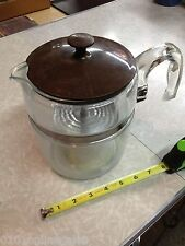 PYREX 7759 FLAMEWARE GLASS 6-9 CUP STOVE TOP COFFEE MAKER POT PERCOLATOR EXC