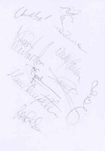 Barnsley FC - Signed Team Sheet - COA (13897)