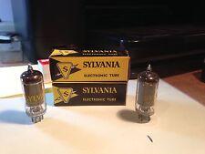 A Vintage Pair Of Sylvania 12Ac6 Tubes