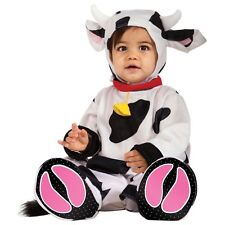RUBIE'S MR. MOO COW BABY COSTUME! BLACK & WHITE JUMPSUIT NEW [SIZE 6-12 MONTHS]