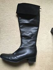 BLACK LEATHER BOOTS  size 4