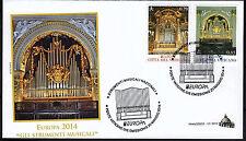 Vatikan 2014 FDC Satz Nr.1809 - 1810 Europa Musikinstrumente
