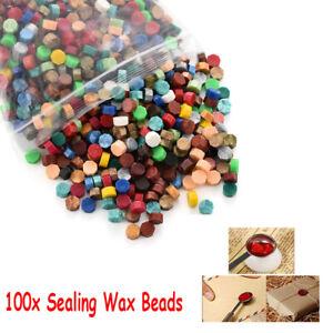 100Pcs Colorful Sealing Wax Beads For Seal Stamp Envelope Wedding Invitation Kit