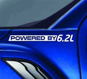 Powered By 6.2L Sticker Vinyl Decal Truck Decal fits Chevrolet V8 Silverado Ford