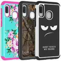 For Samsung Galaxy A20e Case Patterned Hybrid Armor Shockproof Dual Layer Cover