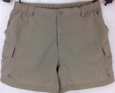 The North Face Nylon Hiking Khaki Cargo Shorts ~ Women's Small Petite ~ EUC