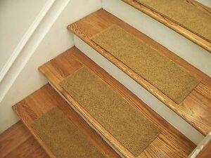 "Premium Carpet Stair Tread Sets - Velour Harvest Gold - 30"" x 8"""