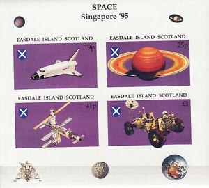 Easdale Island Singapore 95 Space Mini Souvenir Sheet MNH Low Shipping