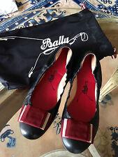BALLY BALLERINAS BEATRIS, GR.38, SCHWARZ, BUTTERWEICH, 1x GETRAGEN, NP 350 CHF
