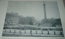 1892 Print TRAFALGAR SQUARE LONDON ENGLAND Lord Nelson Granite Column