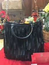 "AUTHENTIC CAROLINA HERRERA BLACK LEATHER ""GASPER"" HANDBAG TOTE"