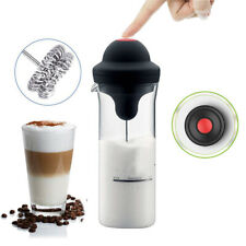 400ML Electric New Automatic Mixing Coffee Milk Frother Foam Machine Glass Cup