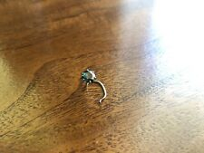 5mm Blue Diamond with 14k white gold nose ring