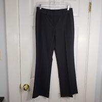 ALFANI Size 4 Black Pinstripe Dress Pants Slacks Career Flat Front Women Stretch