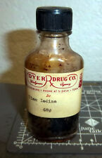 vintage Dyer Drug co Tinc Iodine bottle, Dyersburg Tennessee, Walgreen agency