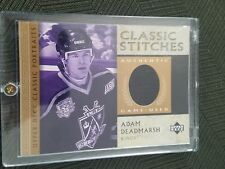 2002 UD Clasdic Stitches Adam Deadmarsh #C-AD JERSEY Hockey card