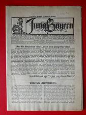 alte Zeitschrift JUNG Bayern Nr. 22 - 26 vom 27. Juni 1919 ( 8052