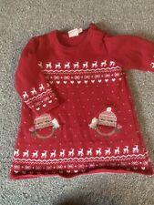 girls 0-3 months Mini club Christmas Jumper Dress Robin Clothes