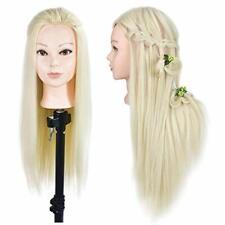 Cabeza de maniquí para peluquería, de 66 a 71 cm, con abrazadera